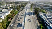 各州間の : Aerial view of the San Diego freeway, Southern California freeways, USA