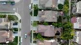 이웃 : Aerial top view of residential modern subdivision luxury house neighborhood. South California, USA