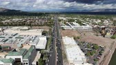 南西 : Aerial view of Scottsdale desert city in Arizona east of state capital Phoenix. Downtowns Old Town Scottsdale 動画素材