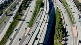 dálnice : Aerial view of highway transportation with small traffic, highway interchange and junction, San Diego Freeway and Santa Ana Freeway. USU California