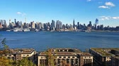 Hudson River Panoramic Manhattan NYC Time Lapse UHD 4K