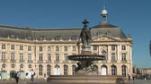 gironde : Bordeaux stock market place Stock Footage