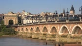 gironde : Old bridge in Bordeaux