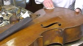 Cleaning and polishing an old table cello