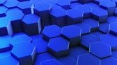 brochura : Hexagons honeycomb background abstract science design motion graphic. 3d render animation video available in 4k FullHD and HD render footage