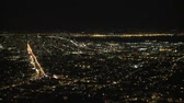 Bay area city noche timelapse Archivo de Video