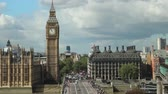 westminster : Big Ben over Westminster bridge day Stock Footage