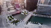 chicago : Chicago river sunrise timelapse