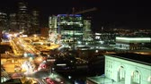pó : boston traffic time lapse at night Stock Footage