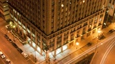 chicago building tilt traffic timelapse Archivo de Video