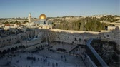 palestina : Dome of the rock temple mount Jerusalem Israel middle east time lapse