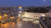 palestina : dome of the rock temple mount illuminated at dusk jerusalem israel middle