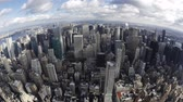 imparatorluk : Elevated day view of The Manhattan skyline from the empire state building