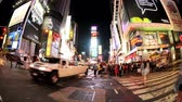 high rise buildings : Fish eye Times Square timelapse