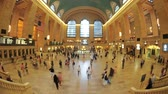 américa central : fisheye grand central station timelapse