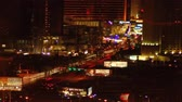 метро : View from hotel window at night panning