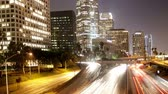 motosiklet : la freeway overpass timelapse Stok Video