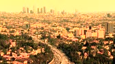 hollywood sign : Los Angeles city daylight Stock Footage