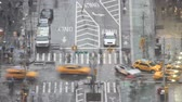 buharlama : new york city intersection in rain timelapse