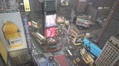 yaya : New York city Times Square timelapse Stok Video