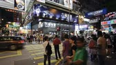 exterior shots : Pedestrians and traffic on Hennessy road near Times Square-wan Chai Hong