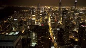 chicago : Scenic night timelapse in Chicago