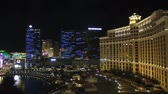 las vegas strip : Time lapse Bellagio Las Vegas