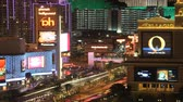 las vegas strip : Time lapse Las Vegas skyline night tight Stock Footage