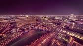 las vegas strip : Time lapse wide Las Vegas night landscape