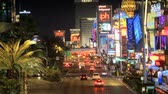 las : Traffic on the Vegas strip Stock Footage