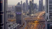 построен структуры : United Arab Emirates Dubai timelapse over Sheikh Zayed Rd showing the new