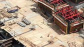 diffuse : Workers at construction zone time lapse Stock Footage