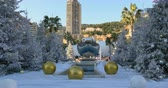 Christmas and New Year decorations at the Monte Carlo Casino, Monaco.
