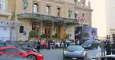 rolls royce : MONACO - DEC 28: the Monte Carlo Casino is a gambling and entertainment complex located in Monaco.  Monaco is the second smallest and the most densely populated country in the world. Stock Footage