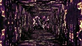 glowing : Tunnel design on Hebrew characters concept animation