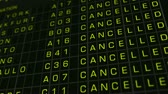 bluescreen : International Airport Timetable All Flights Cancelled