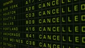 cancelar : US Domestic Airport Timetable All Flights Cancelled Vídeos