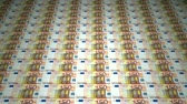 mortgage crisis : 50 euro banknotes seamless looping animation, created from real money. Stock Footage