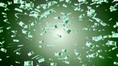 mortgage crisis : 100 euro banknotes falling animation.Money rain.Created from real banknotes. Stock Footage