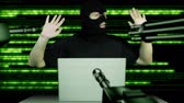 anonym : Hacker Working Table Arrested