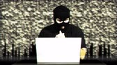 anonym : Hacker Working Table Success Matrix Stock Footage