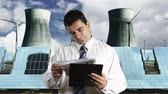cinético : Young Businessman Checking Contract Energy Concept