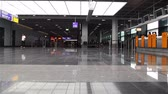 francoforte : Frankfurt Airport Waiting Area Germania Filmati Stock