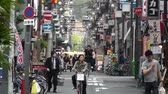 district : Osaka Namba District Japan - Osaka is located in the Kansai region of Honshu Island.Osaka is the 3rd largest city in Japan after Tokyo and Yokohama Stock Footage