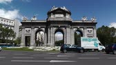 independencia : Plaza Independencia Puerta De Alcala Madrid Spain Stock Footage