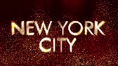 new york city : 4K New York USA City Name Revealing in a Modern Funky Design