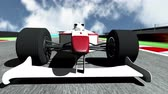 4k : 4K Race Car on Race Course going across the Finish Line high quality 3D animation