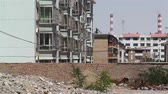 abattre : Ruines Demolitioned Building Block épaves avant la construction en Chine