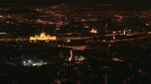 wegry : 4K Budapest Hungary Night Aerial with the Hungarian Parliament