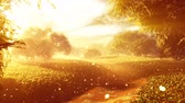 spirit : Amazing Natural Wonderland wth Fireflies and Lightrays in the Sunset Sunrise 3D Animation with cinematic camera motion